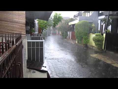 Jakarta streets raining