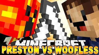 Minecraft Factions - PRESTON VS WOOFLESS! (OP Swords, Legendary Chests & More!)
