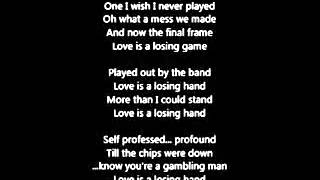 Amy Winehouse - Love Is a Losing Game (Lyrics)