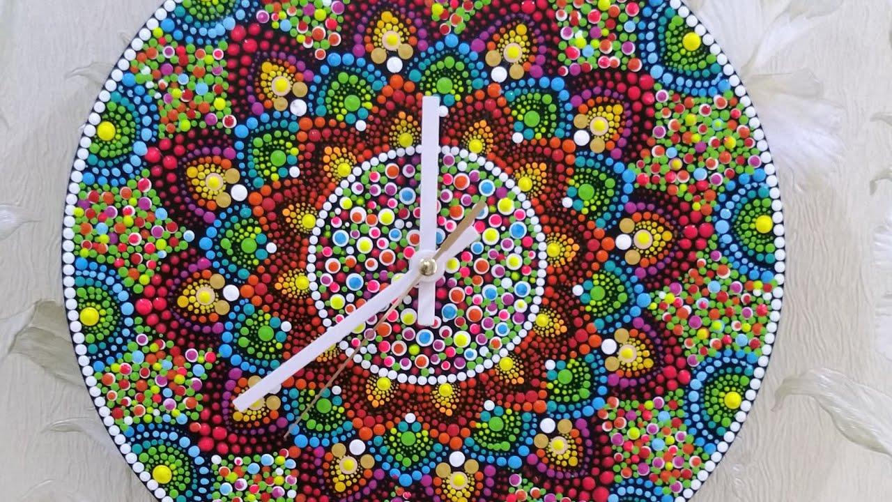 Dot mandala wall clock #28 - full video tutorial by shwetaart03