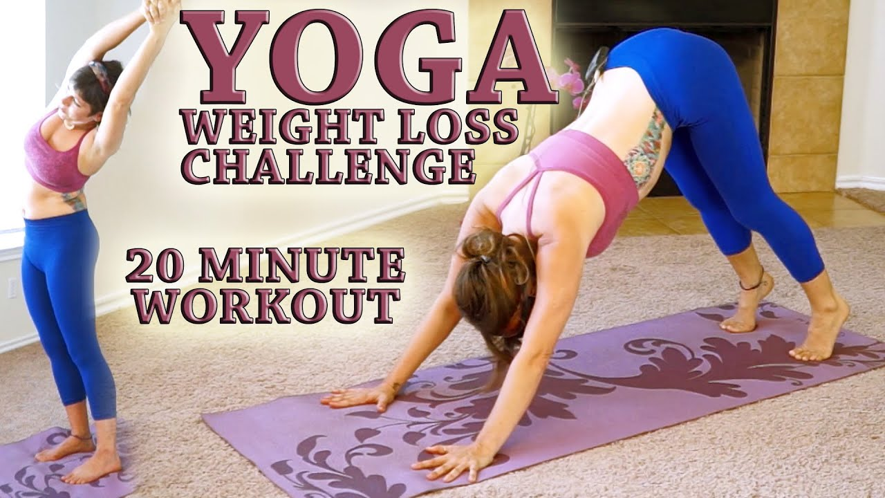 Weight Loss YOGA Challenge Workout 3 20 Minute Fat Burning Yoga Meltdown Beginner Intermediate