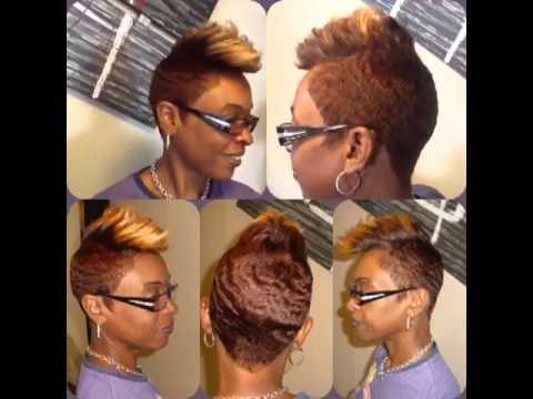 Color Natural Short Hair Cut Youtube