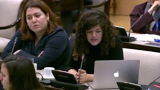Sofía Castañón en la Comisión de Derechos para la Infancia y Adolescencia el 24 de enero