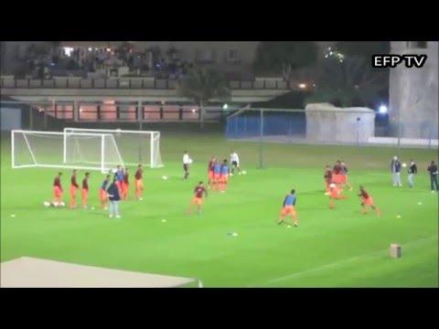 Fluminense  Echauffement les prises de balles et les passes