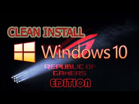 PC TUA - Clean Install Windows 10 ROG Edition | Demo | Review