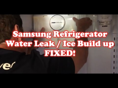 How to fix Samsung Refrigerator Water leaking / Ice Build up!