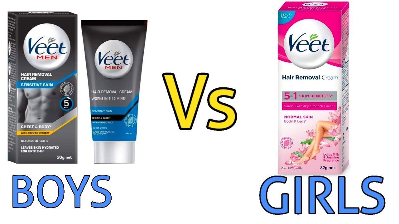 Veet Men Hair Remover Cream Vs Veet Women Hair Remover Cream Youtube