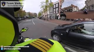 Oefenrit verkeerstechnische begeleiding door Haarlem 02-05-2016