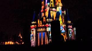 Disney fireworks castle show