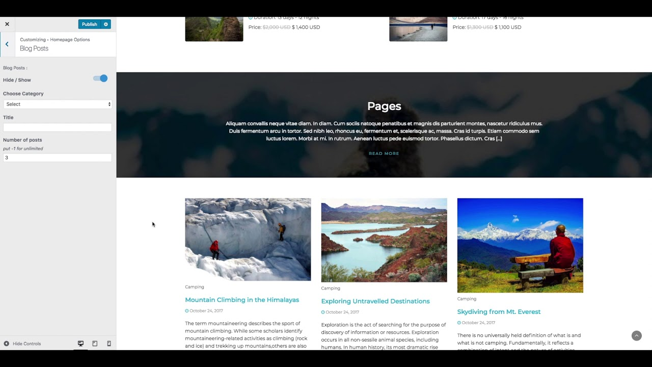 Travel & Tour WordPress Theme - Set up and Configuration | Travel and Tour Agency Website
