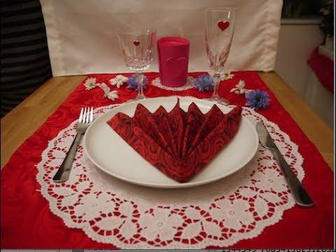Decorar una mesa romntica Valentines Day decor