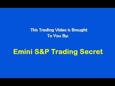 Emini S&P Trading Secret $1,380 Profit