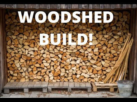 Building a 6 Cord Woodshed For FREE… Part 1!  EP 6