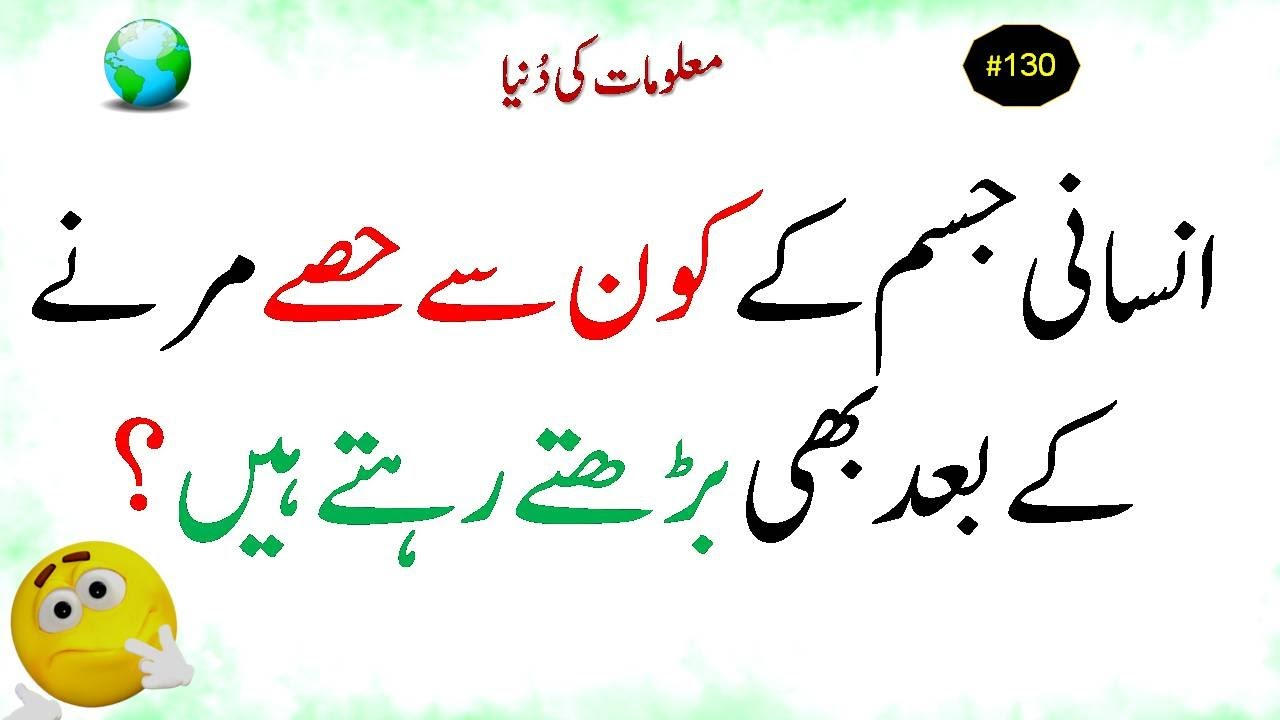 Majedar Urdu Paheliyan ll Riddles in Hindi ll Maloomat ki Dunya #130