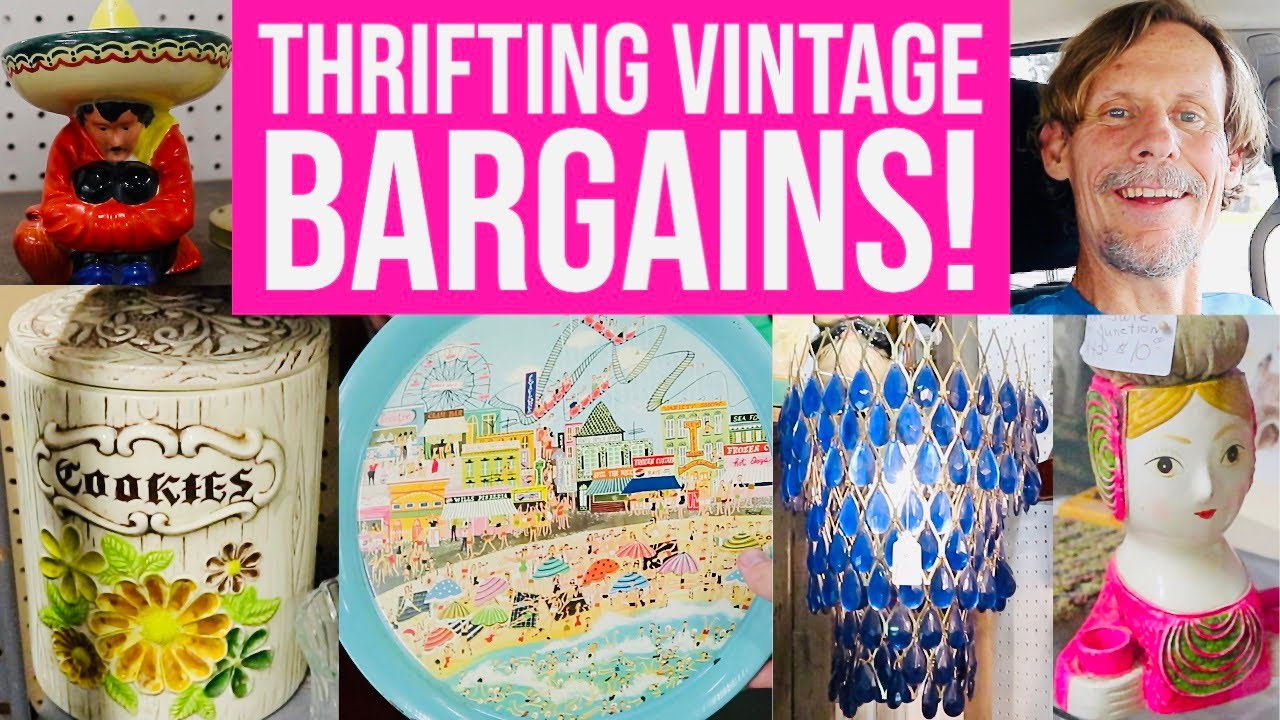 THRIFT SHOP WITH US! | VINTAGE & ANTIQUES TO RESELL | YOUTUBER MEETUP