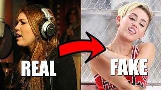 Miley Cyrus Autotune VS. REAL Singing Voice (Before & After)