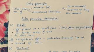 Sales promotion (meaning and techniques) class 12