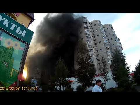 Пожар в СПб Комендантский 28к1. Горит крыша и пенопластовый утеплитель. 2