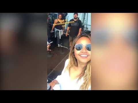 Stan Walker hangs out with Idol pop star Jess Mauboy