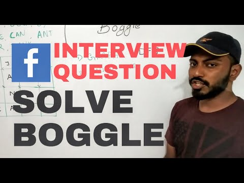 Facebook Interview Question: Solve Boggle