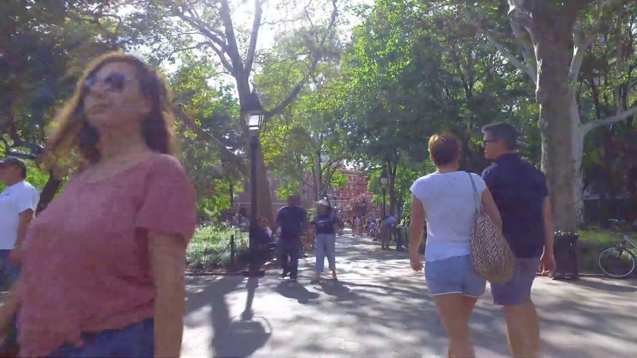 [4k] New York Walk Around West Village/ Washington Sq Park