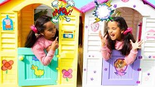 BIA LOBO Pretend Play Twins in Playhouse Gêmeas