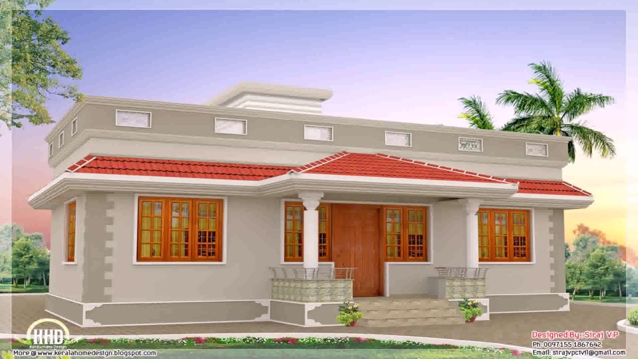 Kerala style house plans within 1000 sq ft youtube for Kerala home design 1000 sq feet