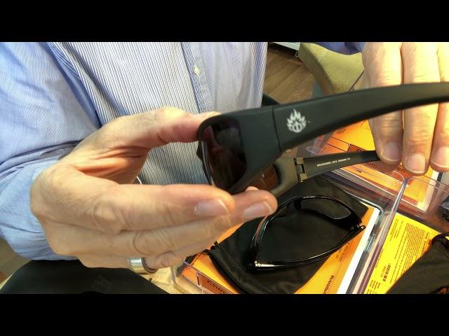 Verglasung einer Bikerbrille Hellfire von Polo