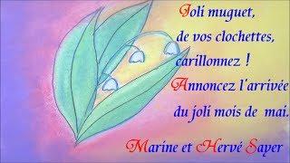 Repeat youtube video 1er mai muguet : dessin et citation poème à offrir à ceux qu'on aime