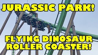 Flying Dinosaur Jurassic Park Roller Coaster Off-Ride POV Universal Studios Japan