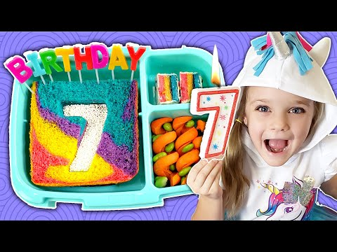 School Lunch TAKEOVER! 🎂 Lily's 7th Birthday Lunches - Bunches of Lunches