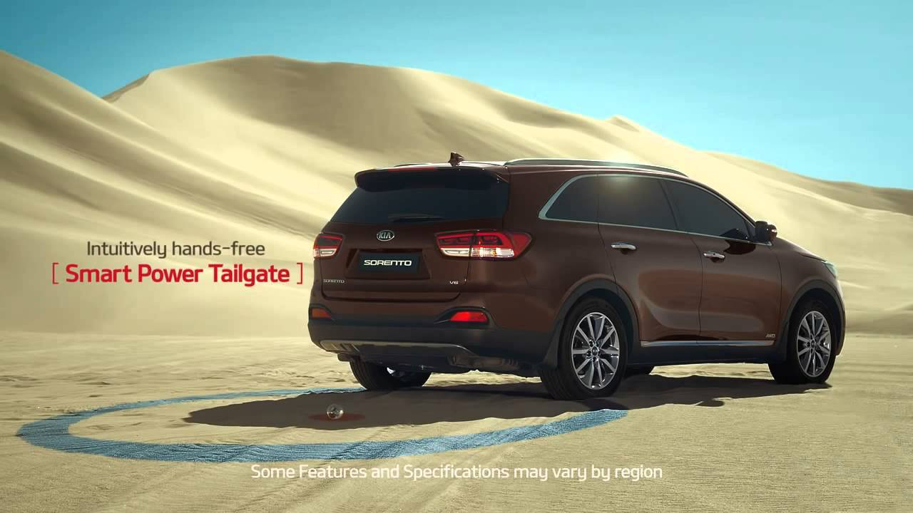 All New KIA Sorento  U201cDesert Golfu201d Smart Power Tailgate