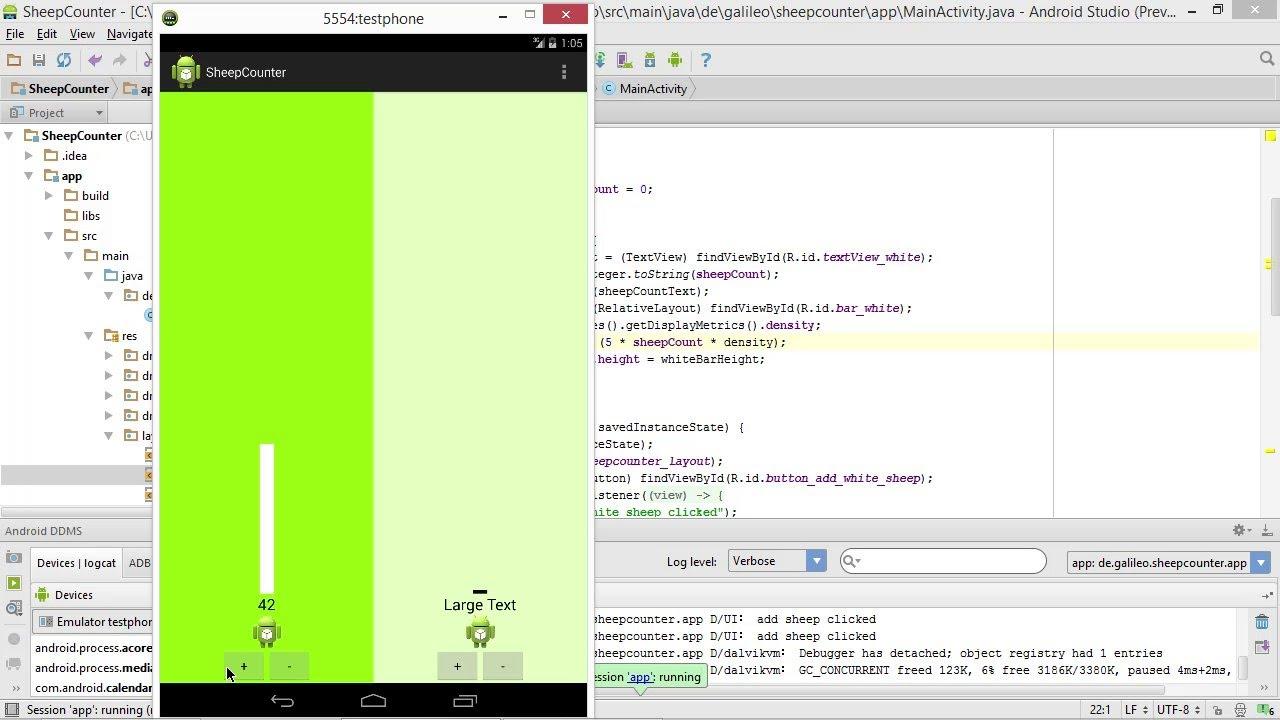 ein einfaches balkendiagramm gestalten | apps entwickeln mit android