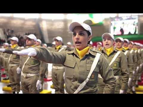 Formatura soldados da Brigada Militar no Gigantinho