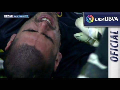 Lesión de rodilla | Knee injury de Víctor Valdés - سلتيك برشلونة