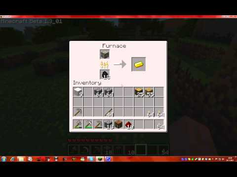 How to make a golden sword in Minecraft