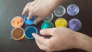 Rainbow clay mix color