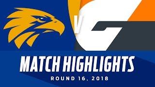 West Coast v GWS Highlights   Round 16, 2018   AFL