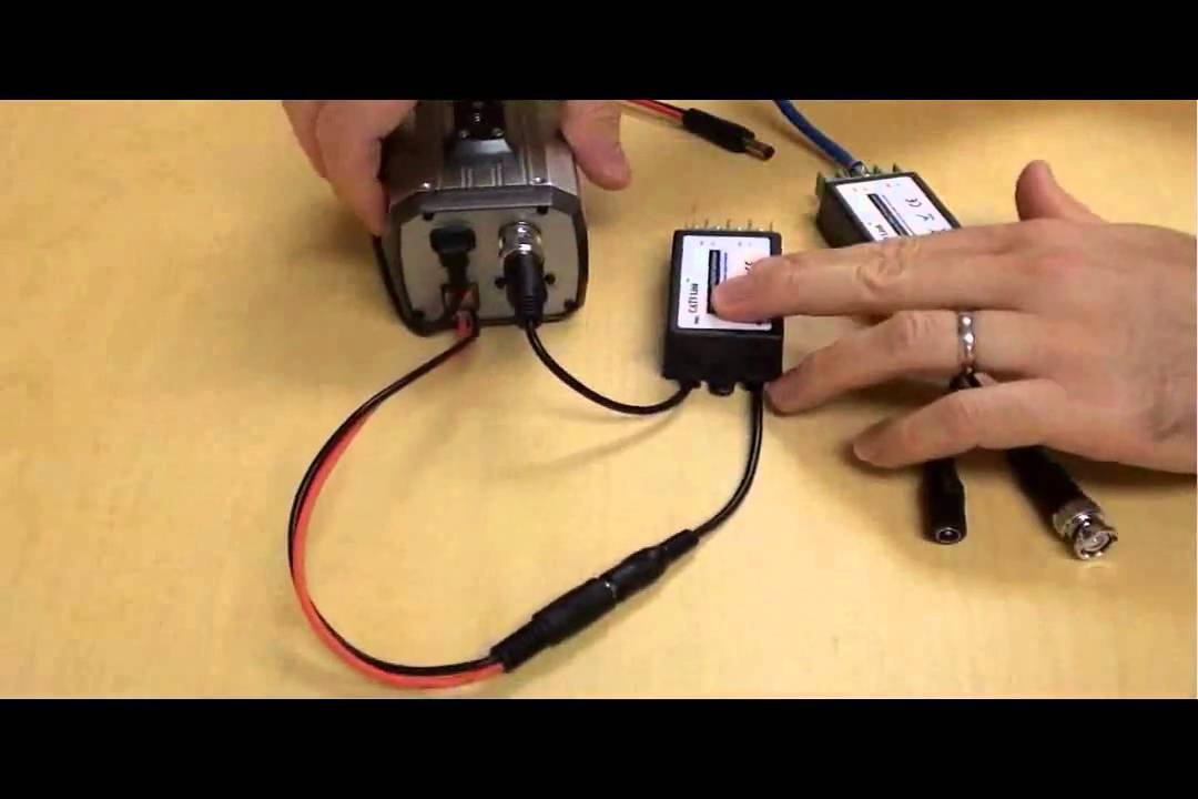 Cat6 Wiring Diagram For Cctv Cat5 Video Balun For Cctv Cameras Youtube
