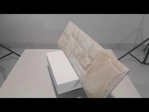 Rivestimento termico effetto pietra basso spessore ricostruita per cappotto forma masso squadrato