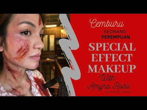 Special effect makeup with amyra rosli (bts) cemburu Seorang Perempuan