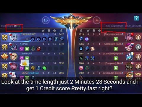 Increase Credit Score In Just 2 Minutes Mobile Legends Bang Bang