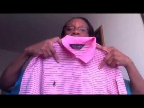 Thrift Haul Blouses, something for the Guys Polo golf shirt
