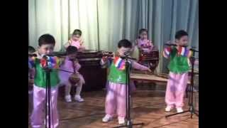 North Korean Kindergarten Performance in Sinuiju, DPRK