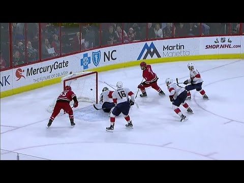 Hanifin ends chaotic final 30 seconds of OT between Hurricanes & Panthers