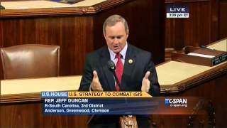 Congressman Jeff Duncan Speaks Against Arming Syrian Rebels 9/17/14