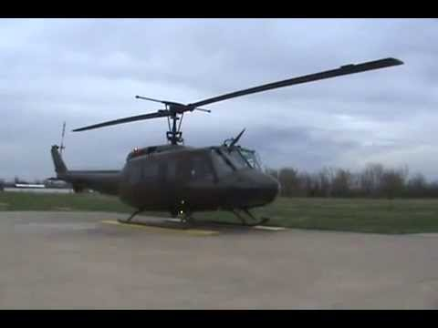 Bell UH-1 Huey Helicopter Start-up