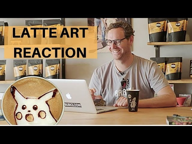 Latte Art Reaction - Barista reagiert auf Latte Art Videos