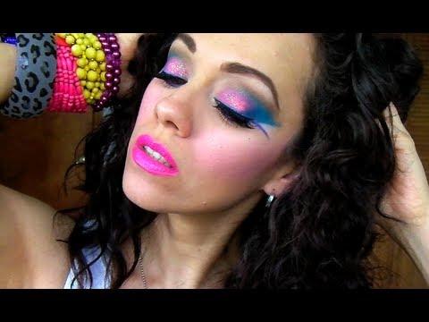 Maquillaje Ochentero Youtube