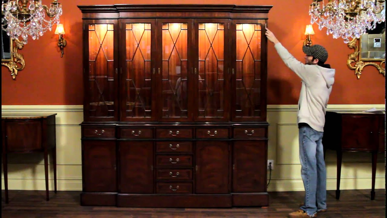 High End Mahogany China Cabinet with Dimmable Interior